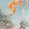 amnesia, graphite, fire, sexual assault, article, illustration, editorial